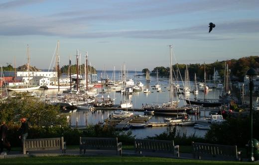 Camden Harbour Maine Schooners