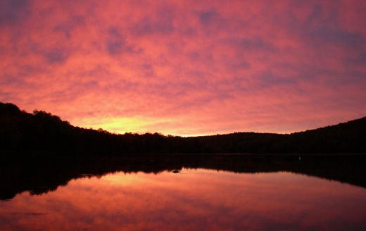 Picture Of A Maine Sunrise Over Sebec Lake