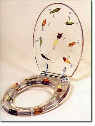 Fishing Lure Toilet Seat For The Fishing Enthusiast