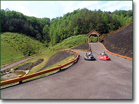 Pigeon Forge Cabin Rental Features Go Kart Track