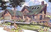 log home plans wrap around